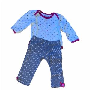 3/$25 🎀 BABY GEAR outfit with ruffle bum 3-6M